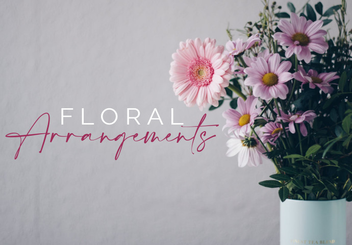 Flowers are hand-arranged into an oasis base and are designed to suit a variety of occasions or even just an ordinary day.  We will expertly arrange your bouquet of beautiful blooms and can even create a custom arrangement for your special occasion.