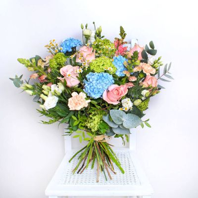 Every single one of our Florist Designed Bouquets will be unique. Let our professional florists create a spectacular bouquet for you to send to your friends and loved ones.  The bouquet may look different to the one shown here but rest assured it will be as beautiful in appearance in soft pastel tones, using the seasons freshest quality blooms and hand delivered with care.