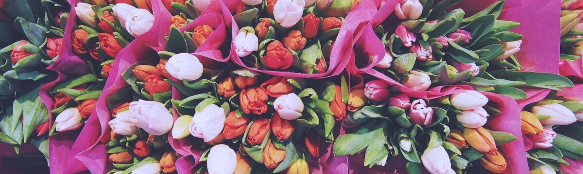 Ordering Flowers online banner