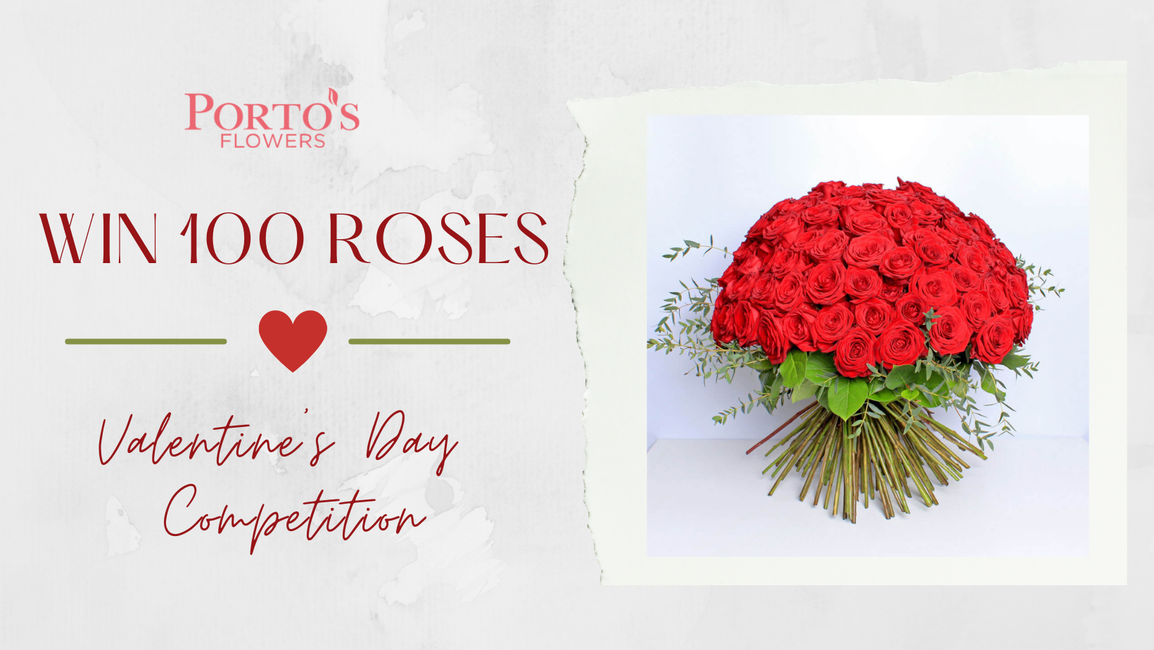red roses valentines competition banner